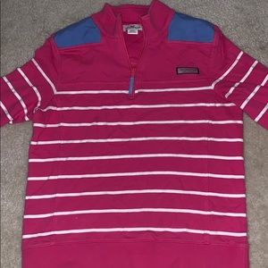Pink and white stripped Vineyard Vines Shep